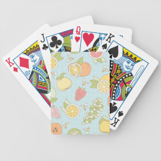 Pattern With Fruits And Berries Bicycle Playing Cards