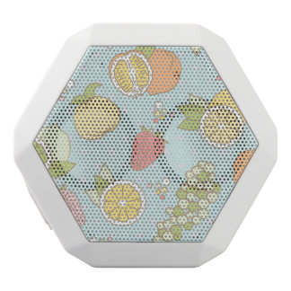 Pattern With Fruits And Berries White Boombot Rex Bluetooth Speaker