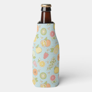 Pattern With Fruits And Berries Bottle Cooler