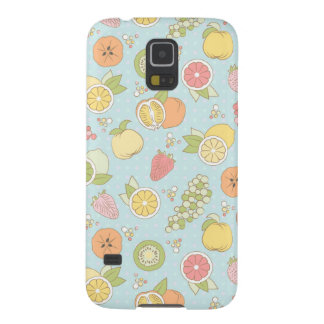 Pattern With Fruits And Berries Galaxy S5 Cover