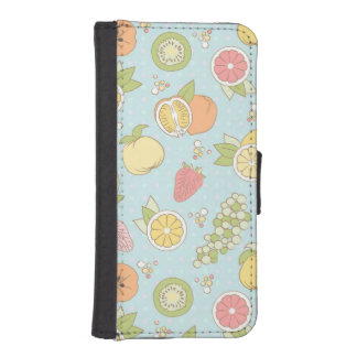 Pattern With Fruits And Berries iPhone SE/5/5s Wallet Case