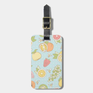 Pattern With Fruits And Berries Luggage Tag
