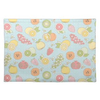 Pattern With Fruits And Berries Placemat