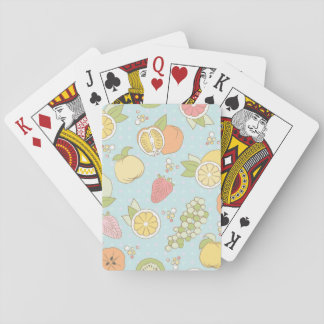 Pattern With Fruits And Berries Playing Cards