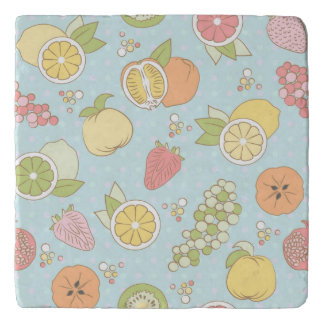 Pattern With Fruits And Berries Trivet
