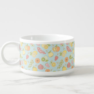 Pattern With Fruits And Berries Chili Bowl