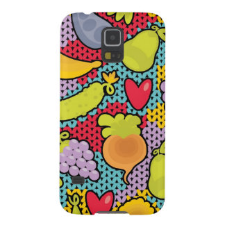 Pattern with fruits and vegetables case for galaxy s5