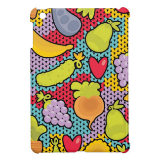 Pattern with fruits and vegetables iPad mini case