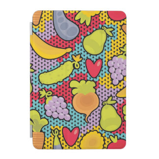 Pattern with fruits and vegetables iPad mini cover