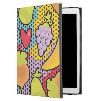 "Pattern with fruits and vegetables iPad pro 12.9"" case"