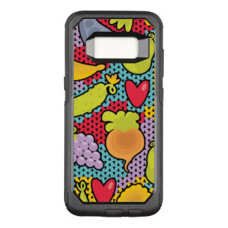 Pattern with fruits and vegetables OtterBox commuter samsung galaxy s8 case
