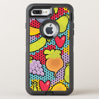 Pattern with fruits and vegetables OtterBox defender iPhone 8 plus/7 plus case
