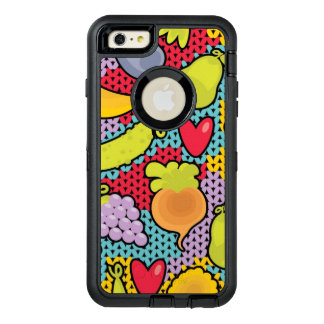 Pattern with fruits and vegetables OtterBox defender iPhone case