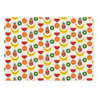 pattern with fruits business card template