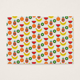 pattern with fruits business card