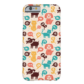 Pattern With Funny Cats And Dogs Barely There iPhone 6 Case