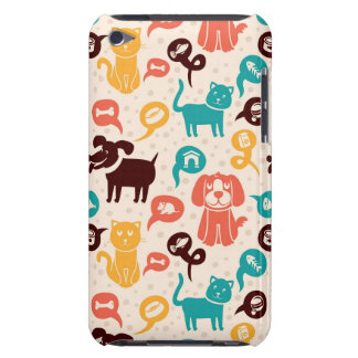 Pattern With Funny Cats And Dogs Barely There iPod Cover