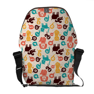 Pattern With Funny Cats And Dogs Commuter Bag