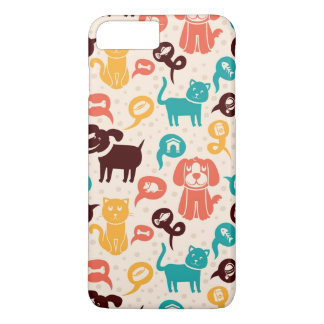 Pattern With Funny Cats And Dogs iPhone 7 Plus Case