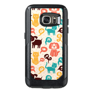 Pattern With Funny Cats And Dogs OtterBox Samsung Galaxy S7 Case