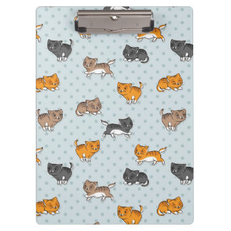 pattern with funny cats clipboard