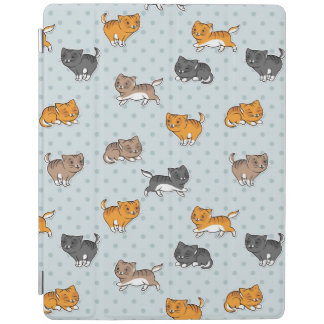 pattern with funny cats iPad cover