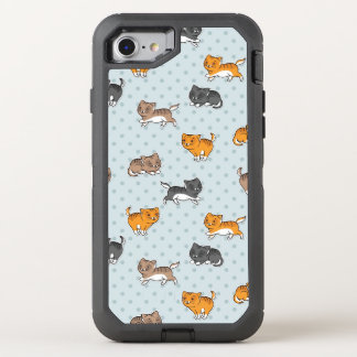 pattern with funny cats OtterBox defender iPhone 8/7 case