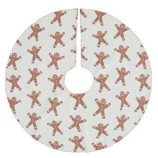 Pattern With Gingerbread Man Brushed Polyester Tree Skirt