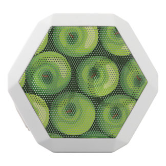 Pattern with Green Apples White Boombot Rex Bluetooth Speaker