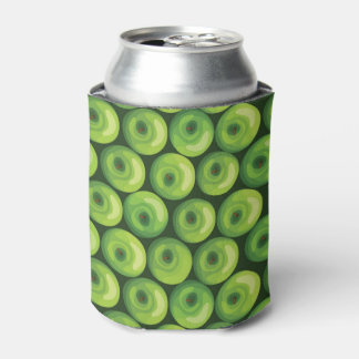 Pattern with Green Apples Can Cooler
