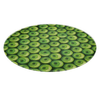 Pattern with Green Apples Cutting Board