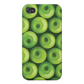 Pattern with Green Apples iPhone 4 Cases