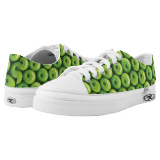 Pattern with Green Apples Low Tops
