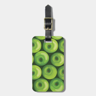 Pattern with Green Apples Luggage Tag