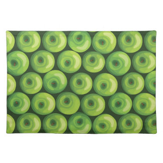 Pattern with Green Apples Placemat