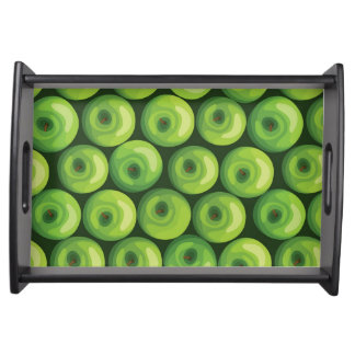 Pattern with Green Apples Serving Tray