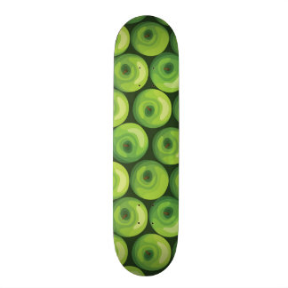 Pattern with Green Apples Skate Boards