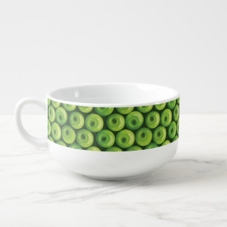 Pattern with Green Apples Soup Mug