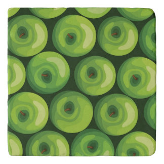 Pattern with Green Apples Trivet