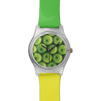 Pattern with Green Apples Watch