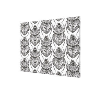 Pattern With Hand Doodle 6 Canvas Print