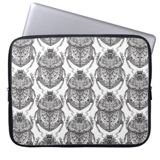 Pattern With Hand Doodle Laptop Sleeve