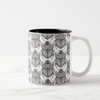 Pattern With Hand Doodle Two-Tone Coffee Mug