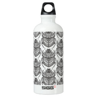 Pattern With Hand Doodle Water Bottle