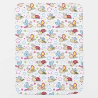pattern with insects baby blanket