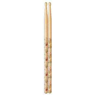 pattern with insects drumsticks