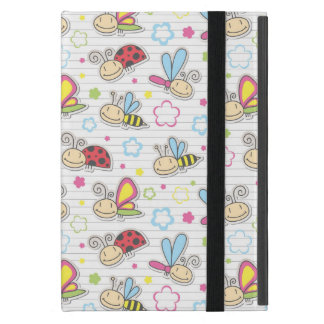 pattern with insects iPad mini cover