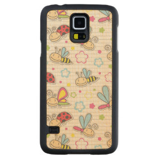 pattern with insects maple galaxy s5 case
