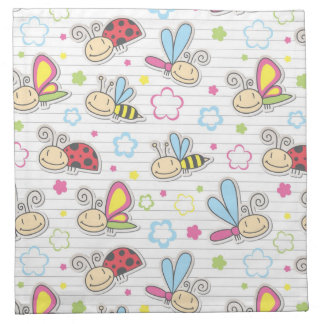 pattern with insects napkin