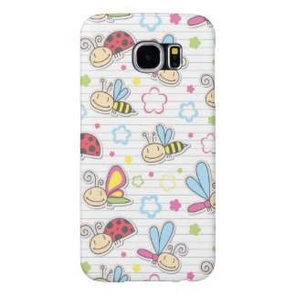pattern with insects samsung galaxy s6 cases